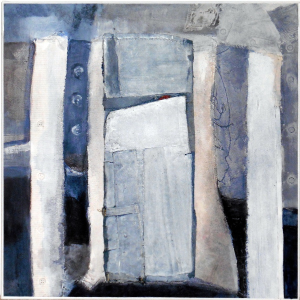 """Composition in Blue 23""""X23"""""""