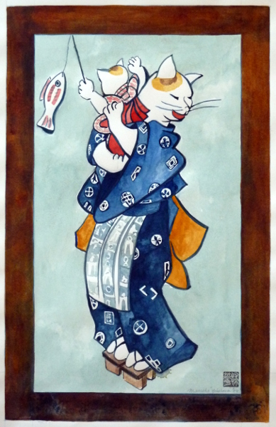 "Japanese Cats 3 22""X30"""