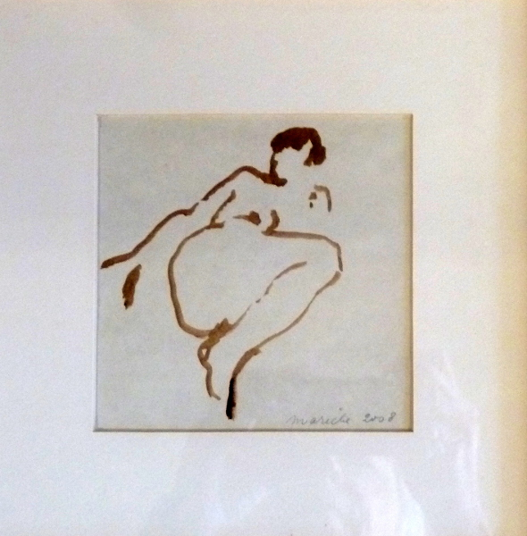 "Reclining Nude 2 6""X6"" Sold"